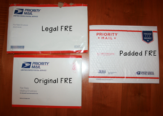 Sewing Mamas blog: Types of USPS Flat Rate Envelopes