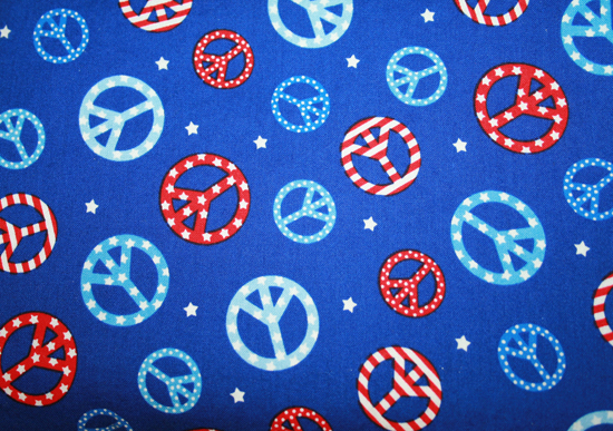 Sewing Mamas Blog: Peace Signs Fabric