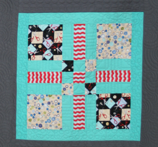 Sewing Mamas Blog: Clothworks Sew Fun block 1 at Spring Quilt Market