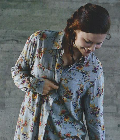 Button Down Shirt from Women's Fall 2014 Ottobre Design Magazine