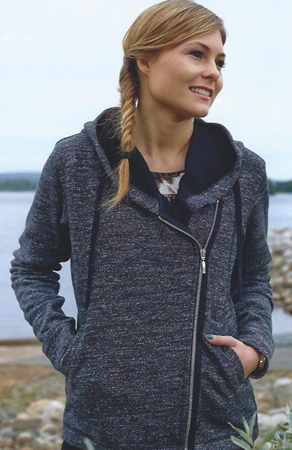 Diagonal Zip Hoodie from Women's Fall 2014 Ottobre Design Magazine