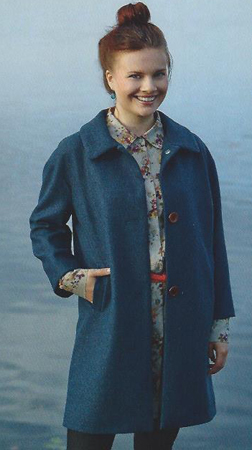 Wool Coat from Women's Fall 2014 Ottobre Design Magazine