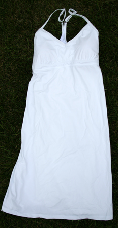 Athleta Shorebreak Dress in white