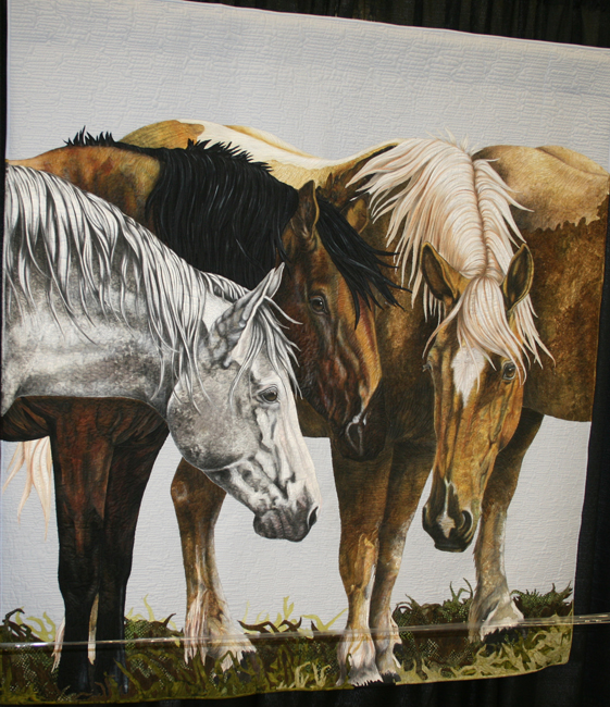 International Quilt Association Winner - Horses Quilt