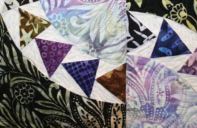 Goose Garden Quilt Close Up