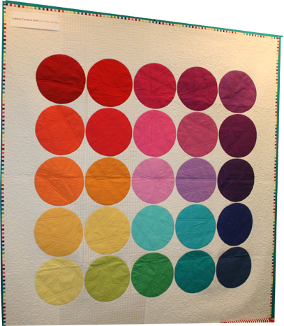 Cotton Couture Dot Quilt Pattern - with Cotton Couture Solids from Michael Miller Fabrics