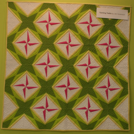 Twirling Trellis Quilt Pattern - with Cotton Couture Solids from Michael Miller Fabrics