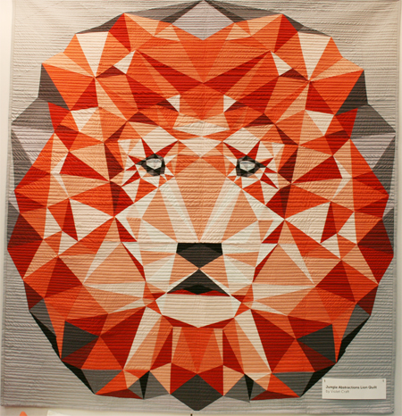 Violet Craft Lion Quilt - with Cotton Couture Solids from Michael Miller Fabrics