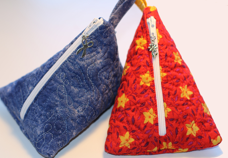 triangle zipper bags