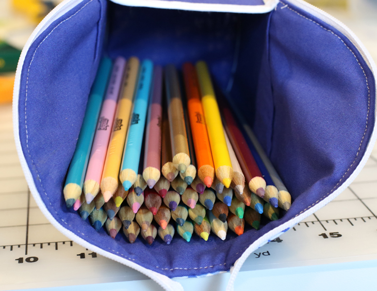 50 colored pencils in there with plenty of room for more!