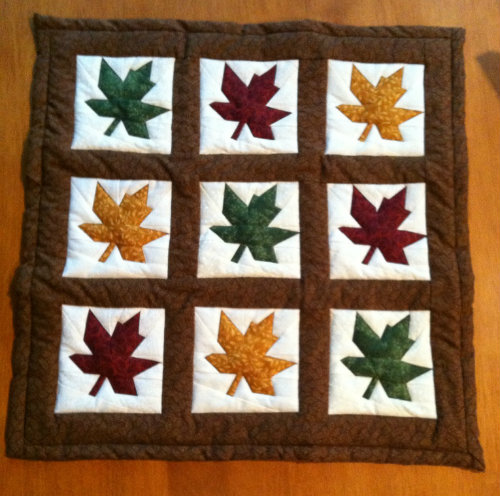 Paper Pieced Maple Leaves - Doll Quilt Swap 2012